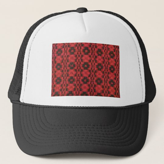 Black and Red Trucker Hat