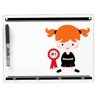 Black and Red Uniform Cheerleader Dry Erase Board