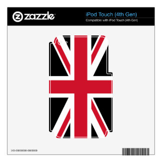 Black and Red Union Jack iPod Touch 4G Skin