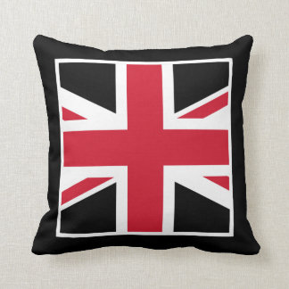 Black and Red Union Jack Pillow