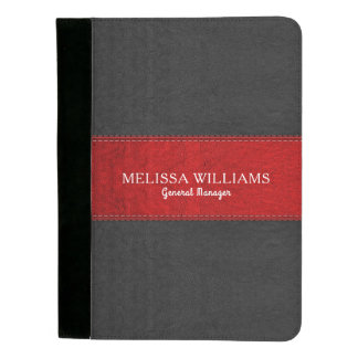 Black And Red Vintage Leather Padfolio