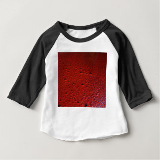Black and Red Water Droplets Painting Baby T-Shirt