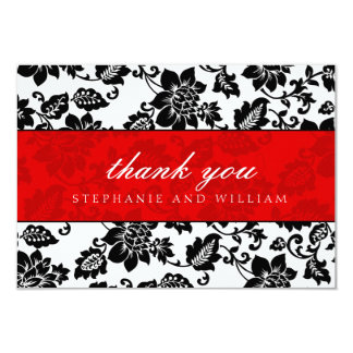 Black and Red Wedding Thank You Card