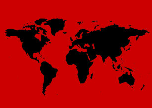 Red world map posters zazzle black and red world map poster gumiabroncs Gallery