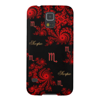 Black and Red Zodiac Sign Scorpio Fractal Galaxy S5 Case