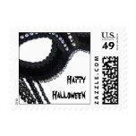 Black and Rhinestone Mask Halloween Postage