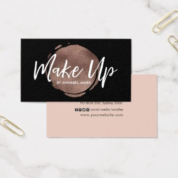Professional Business Black and rose gold foil business card