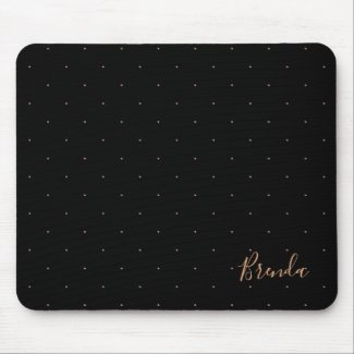 Black and rose-gold small dots pattern