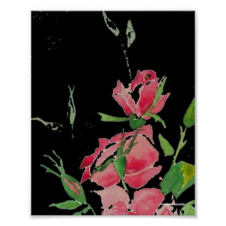 Black and roses posters