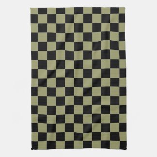 Black and Sage Checkered Kitchen Towels