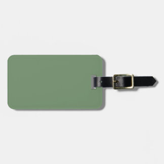 Black and Sage Green Luggage Tag