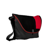 Black and Scarlet Courier Bag