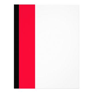 Black and Scarlet Stripe Letterhead