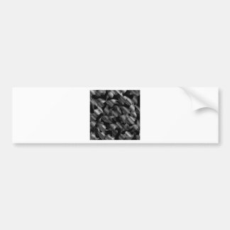 Black and silver abstract background with leaves bumper sticker