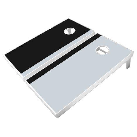 Black and Silver Add Your Logo Cornhole Set