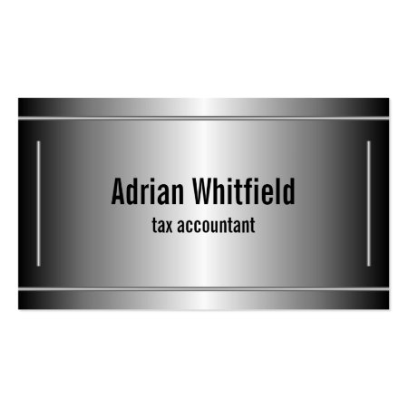 Black and Silver Accountant Business Cards Accounting Calling Cards