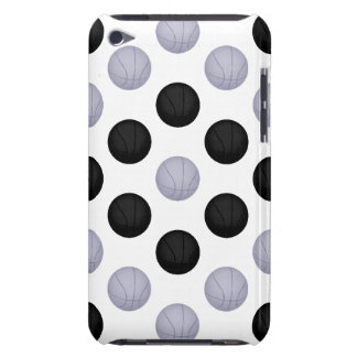 Black and Silver Basketball Pattern Barely There iPod Cover