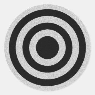 Black and Silver BullsEYE Classic Round Sticker