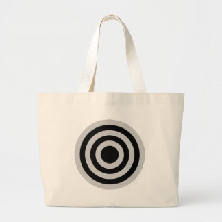 Black and Silver BullsEYE Jumbo Tote Bag