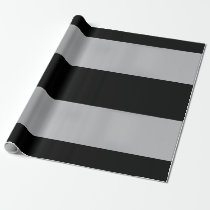 Black and Silver-Colored-Striped Wrapping Paper