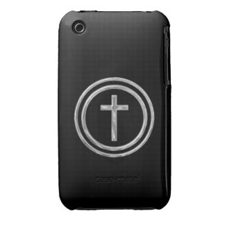 Black and Silver Cross iPhone 3 Case