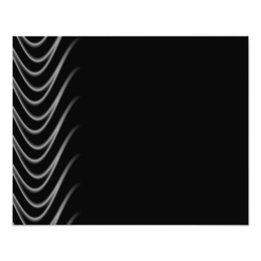 Black and Silver Flames Art Photo
