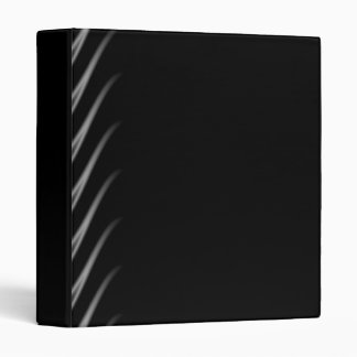 Black and Silver Flames 3 Ring Binder