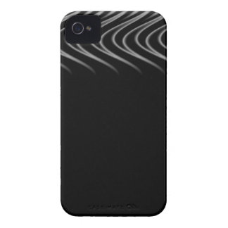 Black and Silver Flames Case-Mate iPhone 4 Case