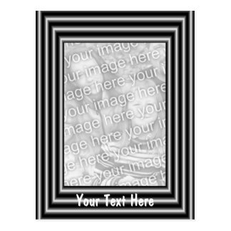 Black And Silver Frame Design Photo Postcard