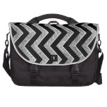 Black and silver glittery  chevron bags for laptop