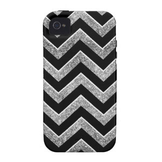 Black and silver glittery  chevron iPhone 4 covers