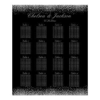 Black and Silver Gray - 16 Seating Chart