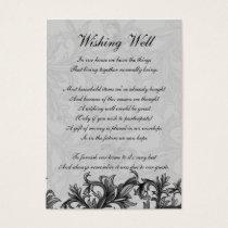 black and Silver Gray Flourish Wedding Business Card