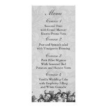 black and Silver Gray Flourish Wedding Rack Card