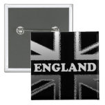 Black and Silver Grey England Union Jack Pin