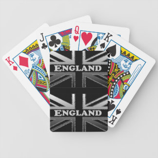 Black and Silver Grey Union Jack Flag Cases Poker Deck