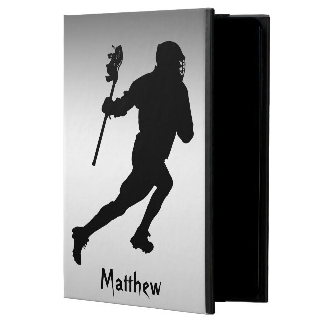 Black and Silver Lacrosse Sports iPad Air 2 Case