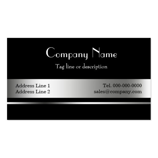 Black and silver Metallic Business Card Templates