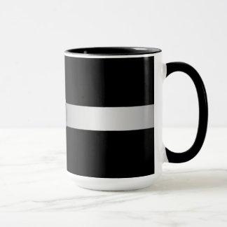 Black And Silver Monogrammed Mug