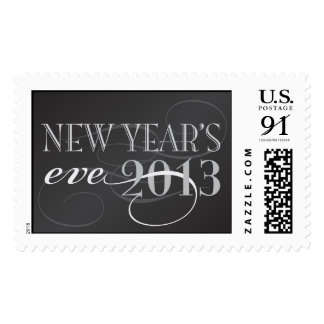 Black and silver New Year's eve 2013 Postage