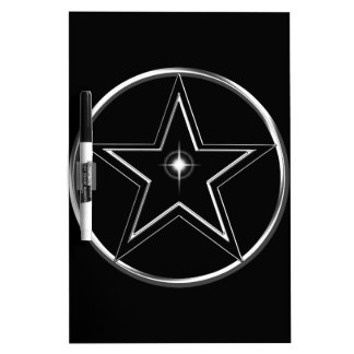 Black And Silver Pentacle Dry-Erase Board