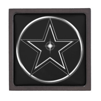 Black And Silver Pentacle Gift Box
