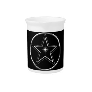 Black And Silver Pentacle Pitchers