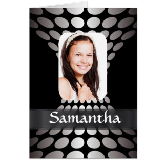 Black and silver personalized photo template