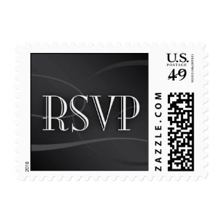 Black and Silver RSVP stamp