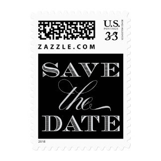 Black and Silver Save the Date Stamps