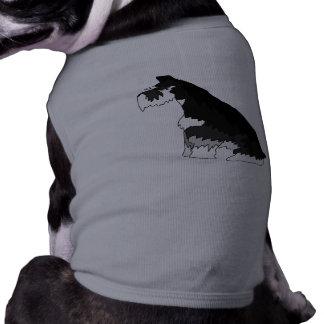 Black and Silver Schnauzer T-Shirt