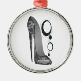 Black and Silver Stiletto Shoe and Bangles Art Metal Ornament