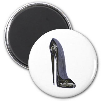 Black and Silver Stiletto Shoe Art Gifts Fridge Magnet