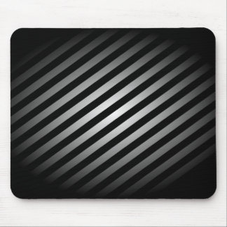 Black and Silver Striped Mouse Pad